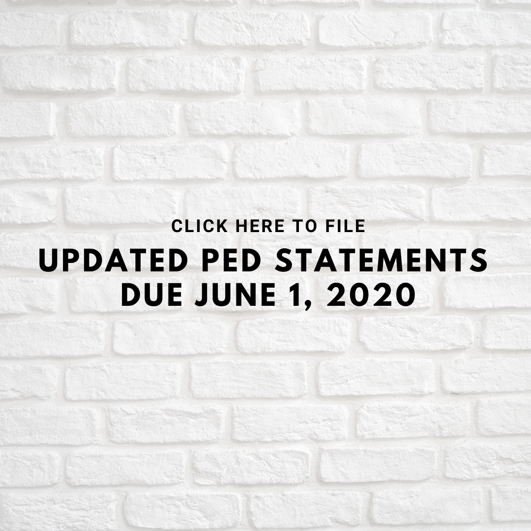 PED Reminder