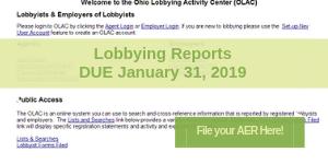 Lobbying Reminder