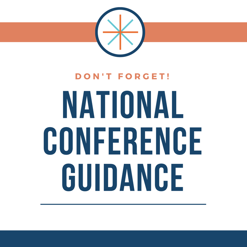 National Conference Guidance